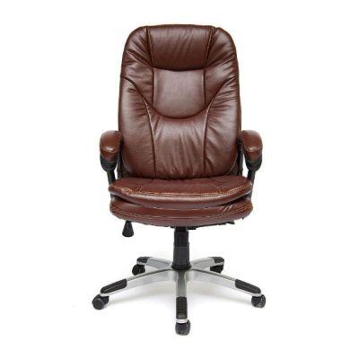 Офисное кресло Тетчер COMFORT кож/зам, коричневый