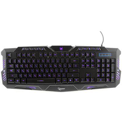 Клавиатура Gembird игровая 3 различные подсветки, 10 доп. клавиш KB-G11L