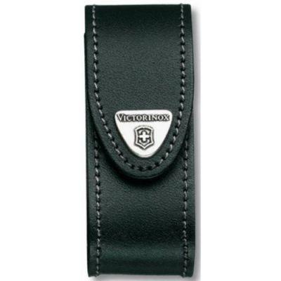 Чехол Victorinox Velkro кожаный с застежкой для ножей 91мм 2-4 уровня в блистере, черный 4.0520.3B1