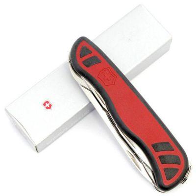 Складной нож Victorinox Nomad с 111мм с фиксатором лезвия ,11 функций, красно-черный 0.8351