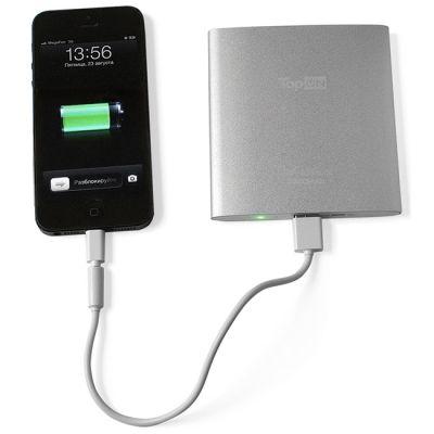 Зарядное устройство TopON универсальный внешний аккумулятор для смартфонов, планшетов на 3500mAh (13Wh),толщина 10мм, черный TOP-AIRmini