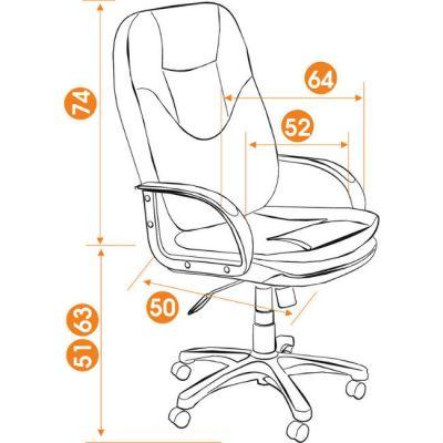Офисное кресло Тетчер COMFORT ST кож/зам, черный