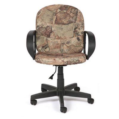 "Офисное кресло Тетчер BAGGI ткань, ""Карта на бежевом"""