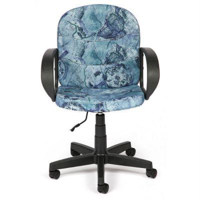 """Офисное кресло Тетчер BAGGI ткань, """"Карта на синем"""""""