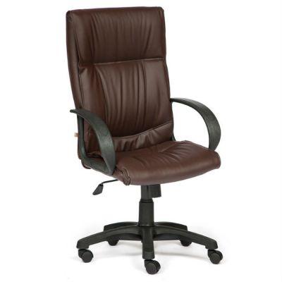 Офисное кресло Тетчер DAVOS кож/зам, коричневый