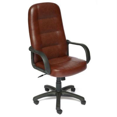 Офисное кресло Тетчер DEVON кож/зам, коричневый перфор. 2 TONE/2 TONE