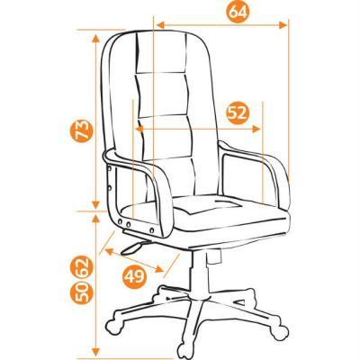 Офисное кресло Тетчер DEVON кож/зам, коричневый/коричневый перфорированный