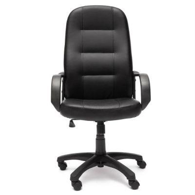 Офисное кресло Тетчер DEVON кож/зам, черный/черный перфорированный