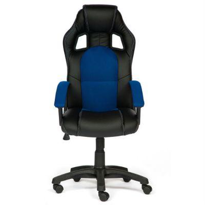 Офисное кресло Тетчер Driver кож/зам/ткань, (черный/синий)