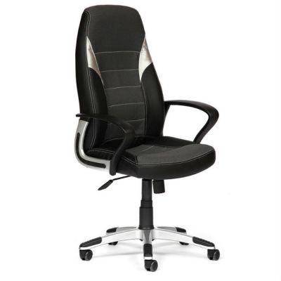 Офисное кресло Тетчер INTER кож/зам/ткань, черный+серый+серебро