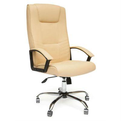 Офисное кресло Тетчер MAXIMA хром кож/зам, Бежевый