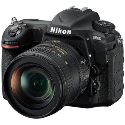 "Зеркальный фотоаппарат Nikon D500 Kit <16-80 VR, 20.9Mp, 3.2"", APS-C, ISO1640000, Wi-Fi, NFC> N1501 Black"