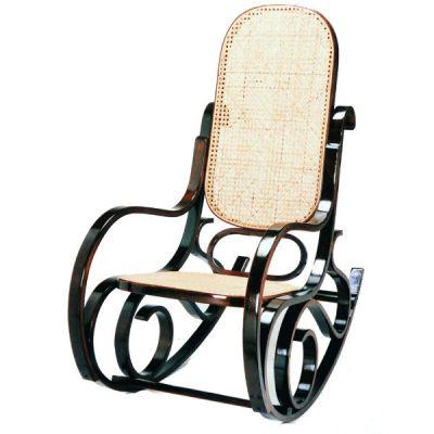 Тетчер Кресло-качалка RC-8001 деревянное, Орех, тростниковое сидение и спинка