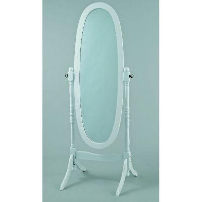 Зеркало Тетчер деревянное, массив Гевеи с поворотным механизмом, белый, 12600WH