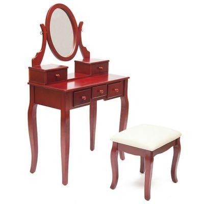 Тетчер Туалетный столик с пуфом, вишня, NY-V3023