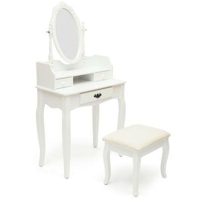 Тетчер Туалетный столик с пуфом, белый, NY-V3024