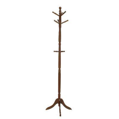 Вешалка Тетчер напольная деревянная, массив Гевеи, для верхней одежды, вишня, СН-4011