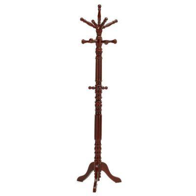 Вешалка Тетчер напольная деревянная, массив Гевеи, для верхней одежды, вишня, СН-4011-L
