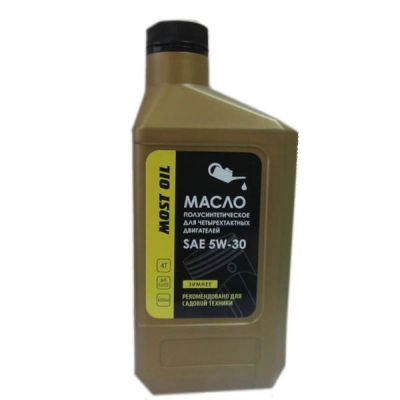 MOST OIL Масло 4-х тактное 0.6л SAE 5W30 полусинтетическое API SJ/CF 1501005002