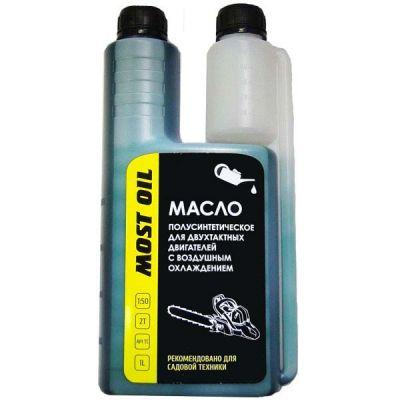 Масло MOST OIL 2-х тактное 1.0л полусинтетическое c дозатором API TC 1501002001