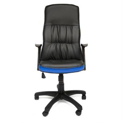 Офисное кресло Тетчер MODENA ST кож/зам, черный/синий