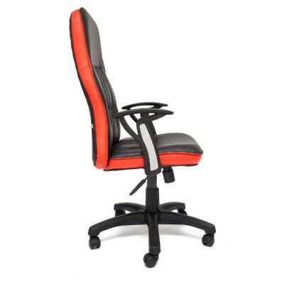 Офисное кресло Тетчер MODENA ST кож/зам, черный/красный