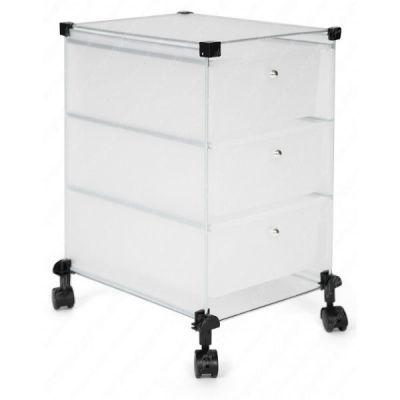 Тетчер Тележка для хранения, пластик 3 ящика, белый/черный, 68562003
