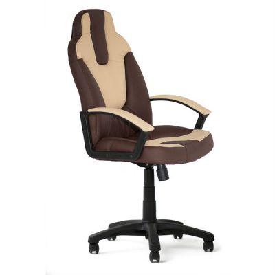 Офисное кресло Тетчер NEO2 кож/зам, коричневый/бежевый