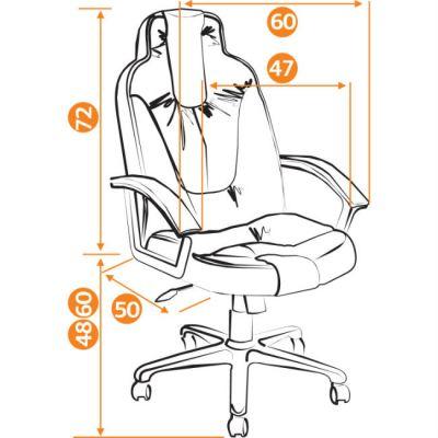 Офисное кресло Тетчер NEO2 кож/зам, черный