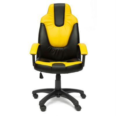 Офисное кресло Тетчер NEO2 кож/зам, черный/жёлтый