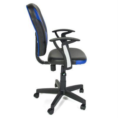 Офисное кресло Тетчер OSTIN кож/зам, черный+синий