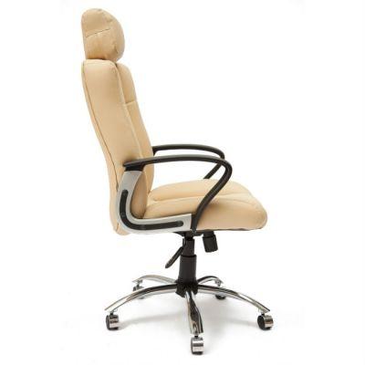 Офисное кресло Тетчер OXFORD кож/зам, бежевый/бежевый перфор