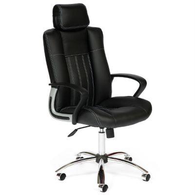 Офисное кресло Тетчер OXFORD кож/зам, черный+черный, перфор