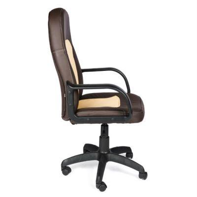 Офисное кресло Тетчер PARMA кож/зам, коричневый/бежевый