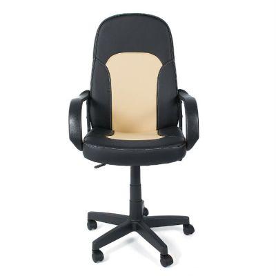 Офисное кресло Тетчер PARMA кож/зам, черный/бежевый