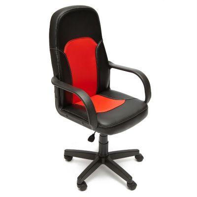 Офисное кресло Тетчер PARMA кож/зам, черный/красный