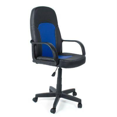 Офисное кресло Тетчер PARMA кож/зам, черный/синий