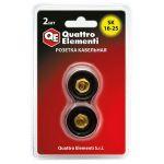 Quattro Elementi Кабельный разъем розетка кабельная сварочного аппарата SК 16-25 ( до 200 А) 2 шт в блистере 641-961