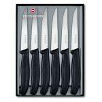 Victorinox Набор ножей Swiss Classic для стейка заточка: серрейторная, черный (6шт)подарочная коробка (6.7233.6G)