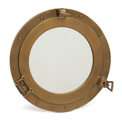 Тетчер Зеркало иллюминатор, сплав аллюминий и латунь 9908 (Диаметр 38 см)