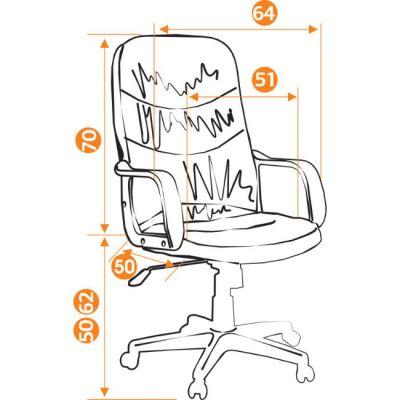 Офисное кресло Тетчер POLO кож/зам, коричневый