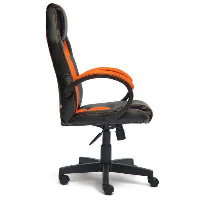 Офисное кресло Тетчер RACER GT кож/зам+ткань, черный/оранжевый