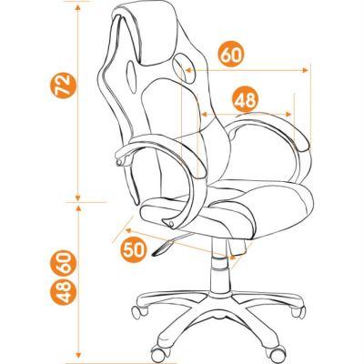 Офисное кресло Тетчер RACER GT кож/зам+ткань, черный/красный