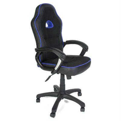 Офисное кресло Тетчер SHUMMY кож/зам+ткань, черный+синий