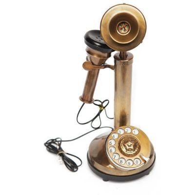 Телефон Тетчер Александра Бэлла из латуни и аллюминия, рабочая копия 19 века, 7313
