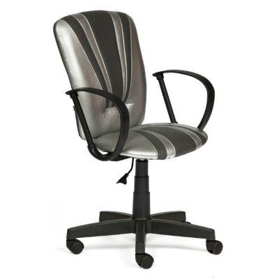Офисное кресло Тетчер SPECTRUM кож/зам, серебро-металлик