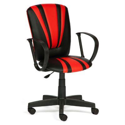 Офисное кресло Тетчер SPECTRUM кож/зам, черный+красный