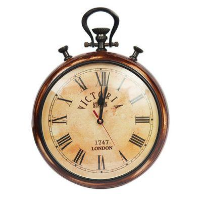 Тетчер Настенные часы, корпус сплав (латунь и аллюминий) и дерево, на батарейках, 2292