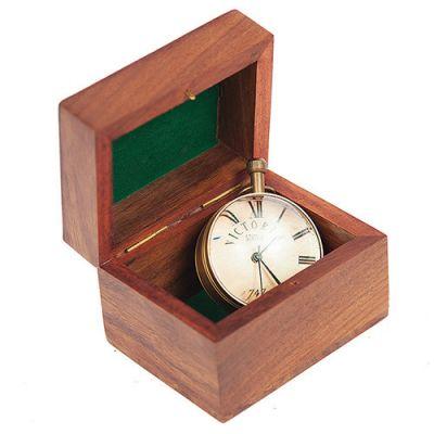 Тетчер Часы настольные, корпус из латуни, в подарочной коробочке из натурального палисандра, 5546