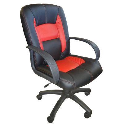 Офисное кресло Почин КР-22 (красный с черным)